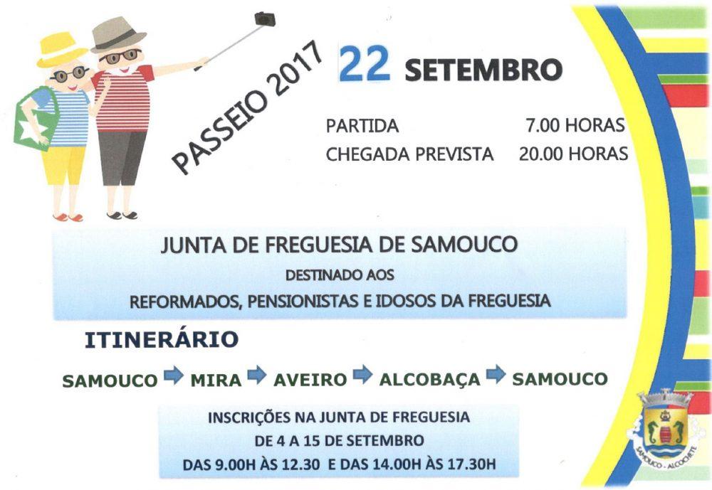 Junta de Freguesia do Samouco: passeio de reformados 22 Set 2017
