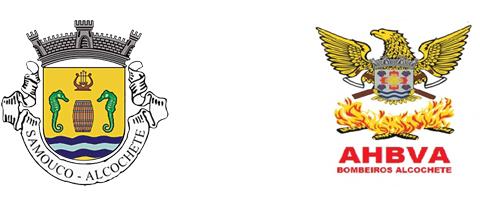 Junta de Freguesia do Samouco: logo Junta e Bombeiros Alcochete